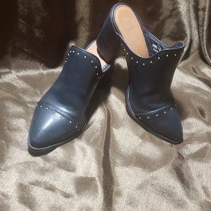 "Black  Report""Tisha"" block heel Mules"